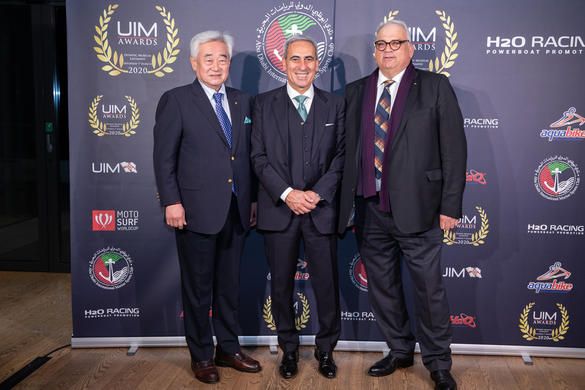 from left) Dr. Choue, Mr. Chiulli and Mr. Lalovic